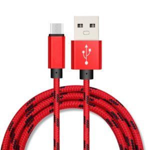 Καλώδιο Micro USB 1μ Υφασμάτινο Ασημί EC-015MS