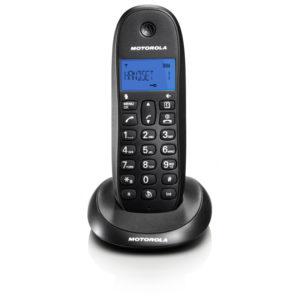 Motorola C1001LB Μαύρο (Ελληνικό Μενού) Ασύρματο τηλέφωνο