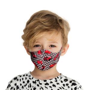 Υφασμάτινη Face Mask Παιδική Μάσκα Με Σχέδια Κόκκινα Αυτοκίνητα MKC