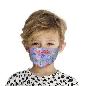 Υφασμάτινη Face Mask Παιδική Μάσκα Με Σχέδια Δεινόσαυρος MKD