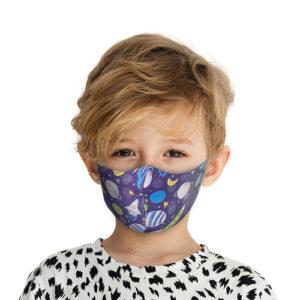 Υφασμάτινη Face Mask Παιδική Μάσκα Με Σχέδια Γαλαξία MKG
