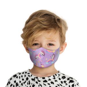 Υφασμάτινη Face Mask Παιδική Μάσκα Με Σχέδια Μονόκερος MKM