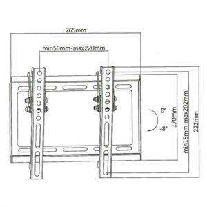 Επιτοίχια βάση στήριξης για τηλεοράσεις LED/LCD/Plasma από 23″ έως 42″. SUPERIOR 23-42 TILT EXTRA SLIM