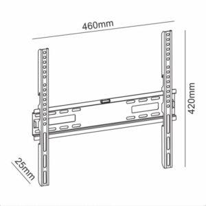 Σταθερή επιτοίχια βάση στήριξης, για τηλεοράσεις LED/LCD από 32″ έως 55″.