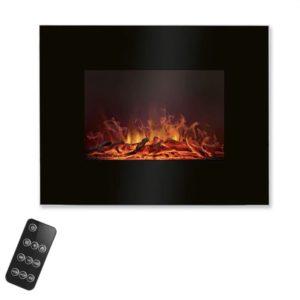 Ηλεκτρικό τζάκι τοίχου 1850W με τηλεχειριστήριο, σε μαύρο χρώμα.  EK 6023