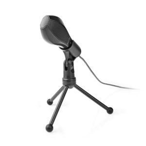 Ενσύρματο μικρόφωνο με τρίποδα και καλώδιο USB 1.5m. NEDIS MICTU100BK