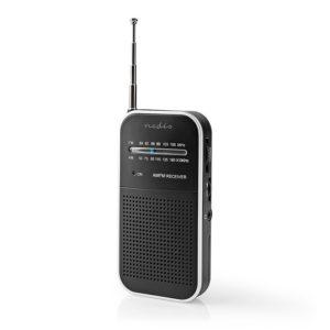 Μini φορητό ραδιόφωνο FM/ΑΜ, σε μαύρο/ασημί χρώμα. NEDIS RDFM1110SI