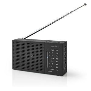 Μini φορητό ραδιόφωνο FM / AM, σε μαύρο χρώμα. NEDIS RDFM1200BK