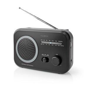 Φορητό ραδιόφωνο FM/AM, σε μαύρο/γκρι χρώμα. NEDIS RDFM1330GY