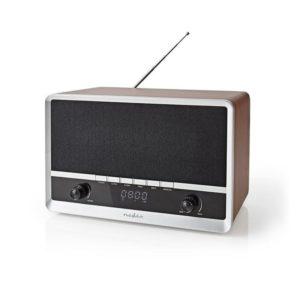 Επιτραπέζιο ηχείο Bluetooth, με ψηφιακό ραδιόφωνο FM και ενσωματωμένη μπαταρία, σε ρετρό design. NEDIS RDFM5200BN
