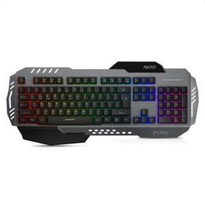 Ενσύρματο gaming πληκτρολόγιο, με RGB LED οπίσθιο φωτισμό, επιφάνεια από αλουμίνιο και palm rest. NOD FURY