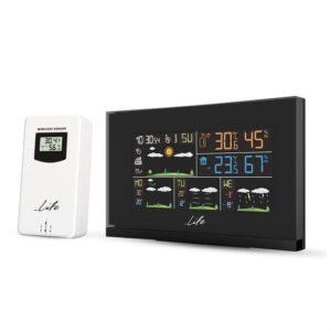 Wi-Fi Curved Design μετεωρολογικός σταθμός με ασύρματο εξωτερικό αισθητήρα, έγχρωμη οθόνη LCD 5.5″ και ρολόι / ξυπνητήρι. LIFE SMARTWEATHER TUNDRA CURVED