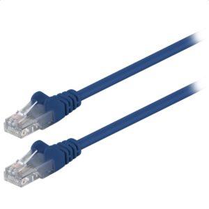 Καλώδιο δικτύου CAT 5e, U/UTP patchcable, 0.25m, σε μπλε χρώμα. 68608