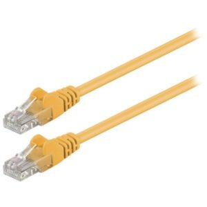 Καλώδιο δικτύου CAT 5e, U/UTP patchcable, 0.25m, σε κίτρινο χρώμα. 68610