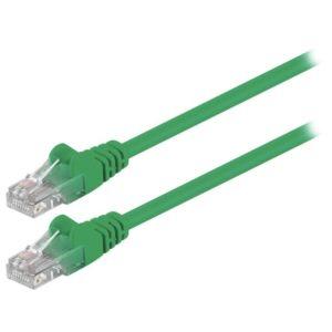 Καλώδιο δικτύου CAT 5e, U/UTP patchcable, 0.25m, σε πράσινο χρώμα. 68612