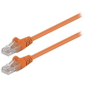 Καλώδιο δικτύου CAT 5e, U/UTP patchcable, 0.25m, σε πορτοκαλί χρώμα. 95201