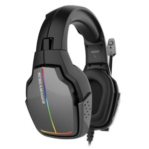 Gaming headset με αναδιπλούμενο μικρόφωνο και rainbow RGB LED φωτισμό. NOD SCREAMAGER