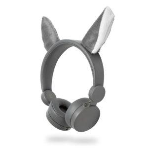 On-ear ενσύρματα ακουστικά NEDIS Animaticks Willy Wolf.  NEDIS HPWD4000GY