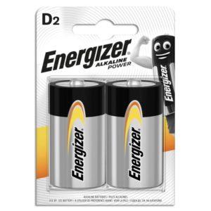 Αλκαλικές μπαταρίες Εnergizer D-LR20, σε blister 2 τεμαχίων.