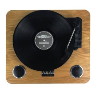 Akai ATT-09 Ξύλινο πικάπ με ενσωματωμένα ηχεία