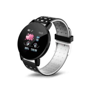 Smartwatch 119 Plus, 44mm, Bluetooth, IP67  Χρώμα Μαύρο Γκρί OEM