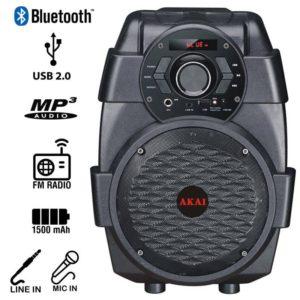 Akai ABTS-806 Φορητό ηχείο Bluetooth με USB, Aux-In και είσοδο μικροφώνου – 10 W