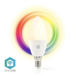 Wi-Fi έξυπνη λάμπα RGB LED, E14, 4,5W, 350lm NEDIS WIFILC11WTE14