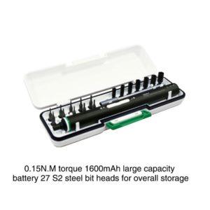 Επαναφορτιζόμενο ηλεκτρικό κατσαβίδι USB Εργαλείο επισκευής κινητού τηλεφώνου BAKU BA-3331
