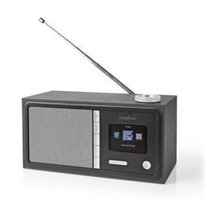 Internet και FM ραδιόφωνο με λειτουργία Bluetooth, 18W. NEDIS RDIN3000BK
