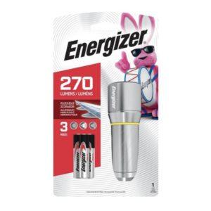 Φακός Energizer Vision HD με 3 μπαταρίες AAA και φωτεινότητα 270 Lumens. ENERGIZER METAL VISION HD