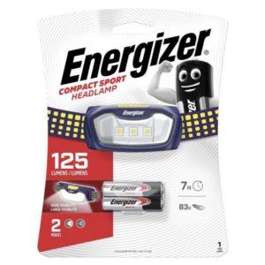 Φακός κεφαλής Energizer Sport Headlight 2AAA με φωτεινότητα 125 lumens. ENERGIZER SPORT HEADLIGHT