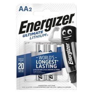 Μπαταρίες λιθίου Energizer ΑΑ σε blister 2 τεμαχίων. ENERGIZER ULTIMATE LITHiUM 2A
