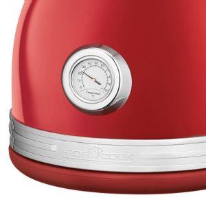 Ανοξείδωτος Vintage Βραστήρας 1.7L Σε Κόκκινο Χρώμα, 2200W. PROFI COOK  PC-WKS 1192 RED