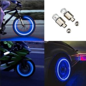 Καπάκι βαλβίδας ποδηλάτου με φως, 2 τμχ, μπλε