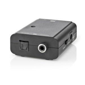 Αμφίδρομος ψηφιακός μετατροπέας ήχου από TosLink θηλ. και S/PDIF (RCA) θηλ. σε T- Έξοδος: 2x RCA αρσ. και αντίστροφα.