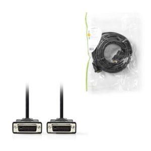 Καλώδιο DVI-D Dual αρσ. – DVI-D Dual αρσ, 10m.NEDIS CCGP32001BK100