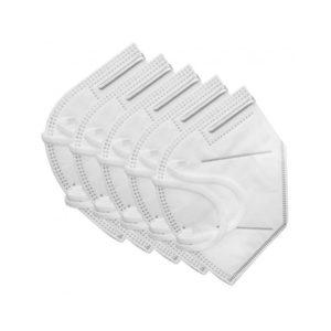 Μάσκα προστασίας FFP2 (KN95) χωρίς βαλβίδα εκπνοής (5τεμ) με Μεταλλικό Έλασμα