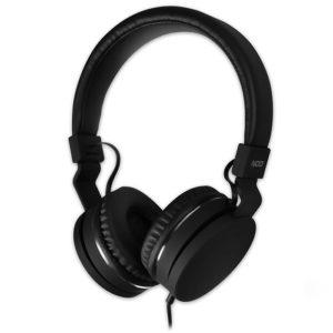 Ενσύρματα on-ear ακουστικά με μικρόφωνο, σε μαύρο χρώμα. NOD LIVE