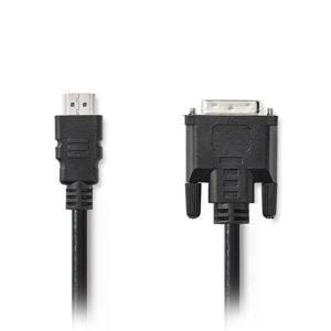 Καλώδιο HDMI αρσ. – DVI-D 24+1-Pin αρσ., 2m. NEDIS CCGT34800BK20
