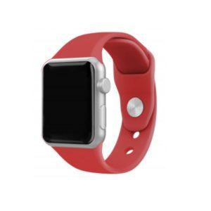 Silicone Bracelet for Apple Watch 38-40mm Κόκκινο Techancy TF69533