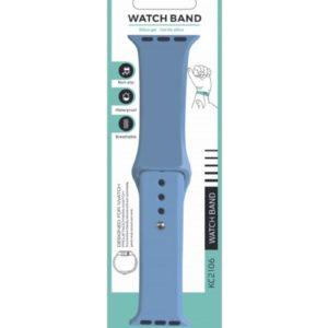 Silicone Bracelet for Apple Watch 38-40mm Γαλάζιο Techancy TF69539