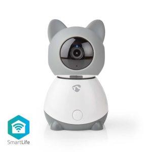 WiFi Smart IP camera Full HD 1080p, με λειτουργία Pan tilt και αισθητήρα θερμοκρασίας & υγρασίας.  NEDIS WIFICI30CGY