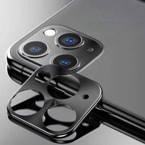 Προστατευτικό Μεταλλικό Κάλυμμα Κάμερας για iPhone 11 Pro/Pro Max Μαύρο