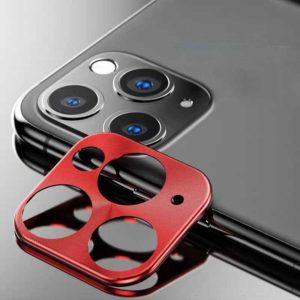 Προστατευτικό Μεταλλικό Κάλυμμα Κάμερας για iPhone 11 Pro/Pro Max Κόκκινο