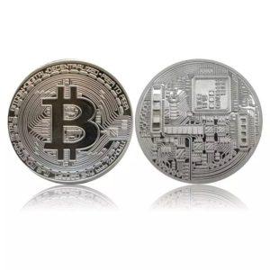 Bitcoin Silver Plate Αναμνηστική πλακέτα. 1τμχ