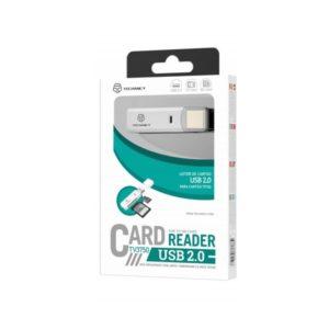 Card Reader Αναγνώστης Καρτών Sd / Tf 2 In 1 Usb 2.0 Λευκό Techancy TF58019