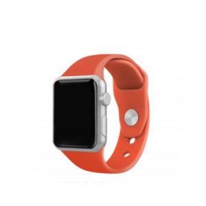 Silicone Bracelet for Apple Watch 42-44mm Πορτοκαλί Techancy TF69546