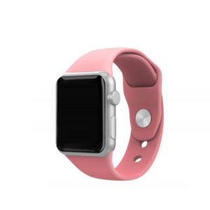 Silicone Bracelet for Apple Watch 42-44mm Ρόζ Techancy TF69548