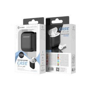 Silicone Cover For Airpod 1/2 Μαύρη Techancy TF69505