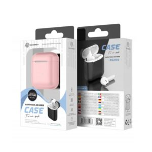Silicone Cover For Airpod 1/2 Ρόζ Techancy TF69508